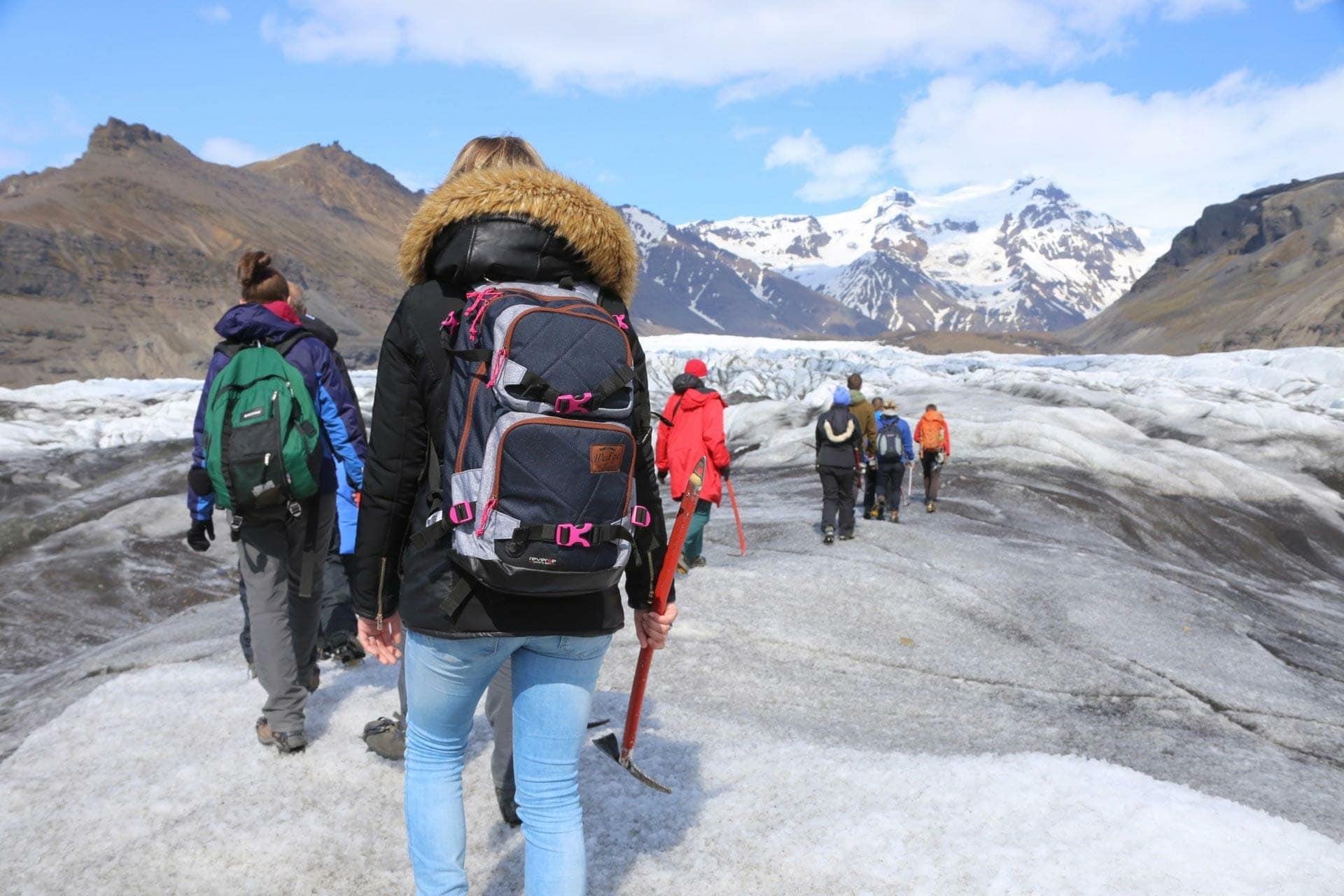 walk on Vatnajökull