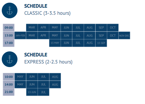 Whale watching schedule