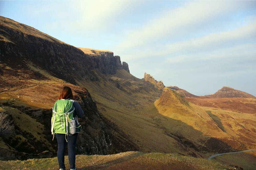 Golden hour on Quiraing - île de Skye