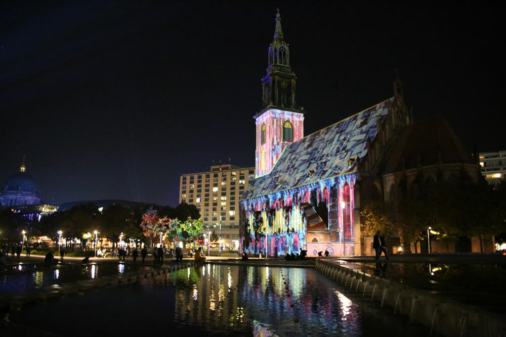 Alexanderplatz festival lights