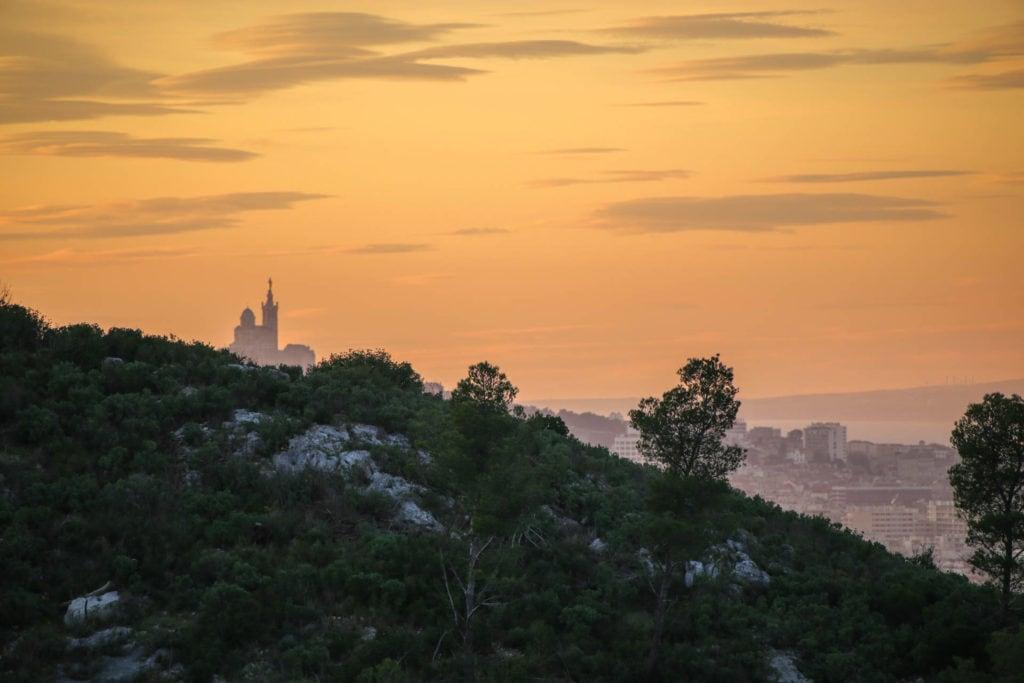 Vue du Parc des Bruyères sur Marseille